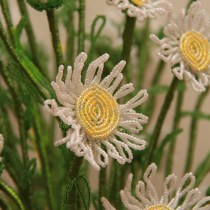 French beaded wild daisy