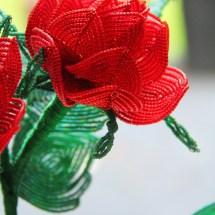 French beaded rose by Fen Li, Bead Flora Studio
