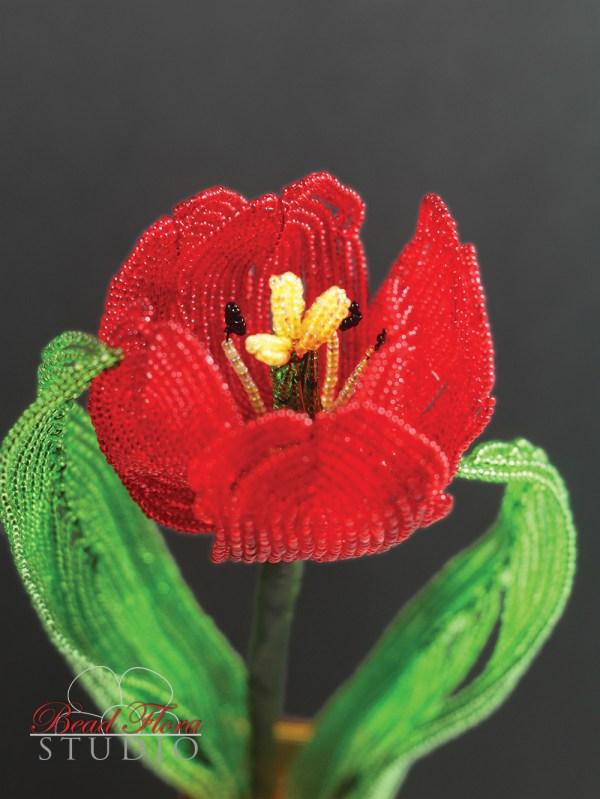 French beaded tulip