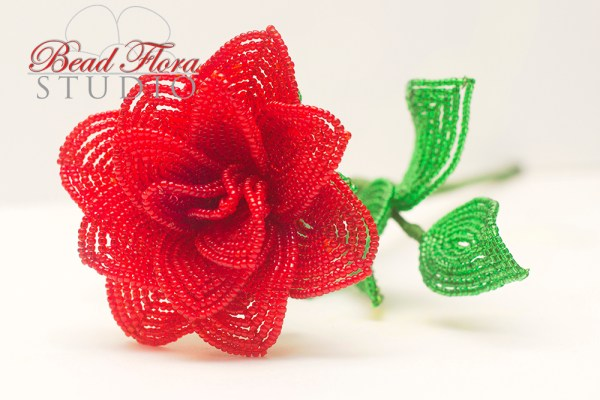French beaded rose pdf automatic download