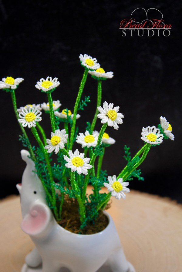 French beaded chamomile - PDF/Video Lessons