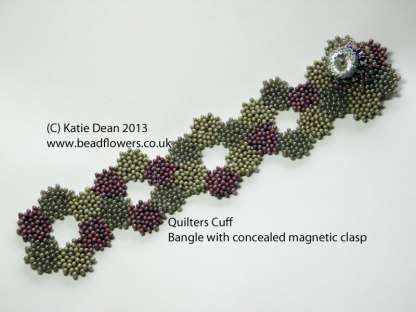 Quilter's Cuff Bracelet Kit and Pattern by Katie Dean, Beadflowers