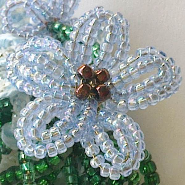 Healing beads! My first flower, Katie Dean, Beadflowers