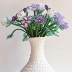 Beginner French Beaded Flowers Kit, basic French beading pattern