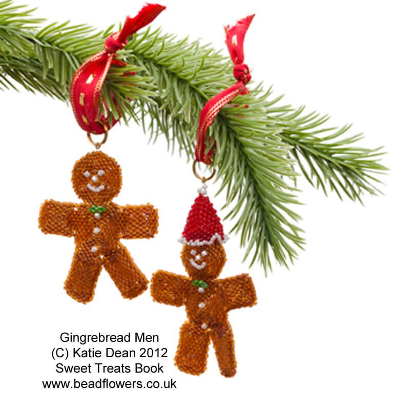 Beaded Gingerbread man ornaments