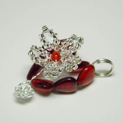 Beading therapy, valentines heart charm pattern, Katie Dean, Beadflowers