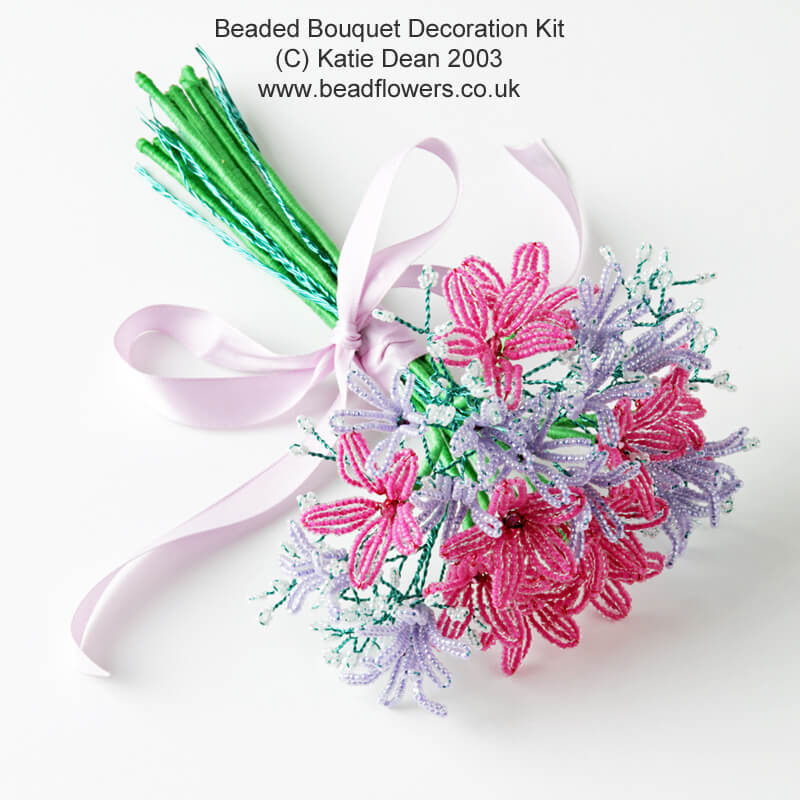 Beaded flowers table decoration