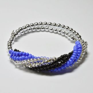 Beginner Herringbone Spiral Bracelet pattern. Herringbone twist bangle kit. Katie Dean, Beadflowers