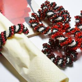 Cellini Spiral Napkin Rings, Katie Dean, Beadflowers