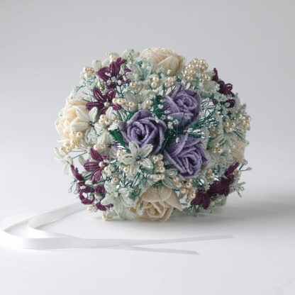 Rose Hand Tied Bouquet Kit, Katie Dean, Beadflowers