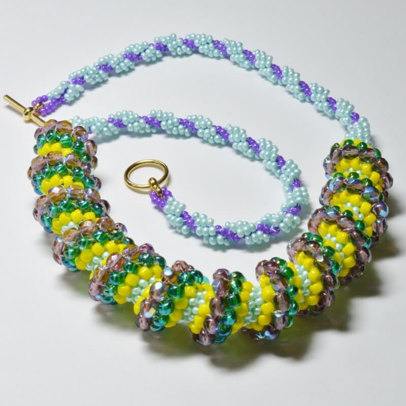 Spiralling Spirals Necklace Pattern, Katie Dean, Beadflowers