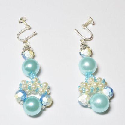 Pearl Chandelier earrings beading pattern, Katie Dean, Beadflowers