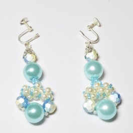 Pearl Chandelier earrings beading pattern, Katie Dean, Beadflowers