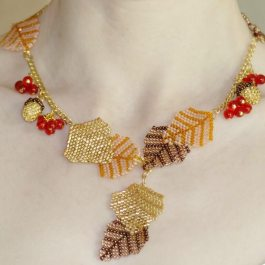 Autumn Necklace Pattern, Katie Dean, Beadflowers