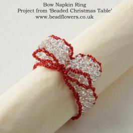 Beaded Napkin Rings Pattern, Beaded Christmas Table, Katie Dean, Beadflowers
