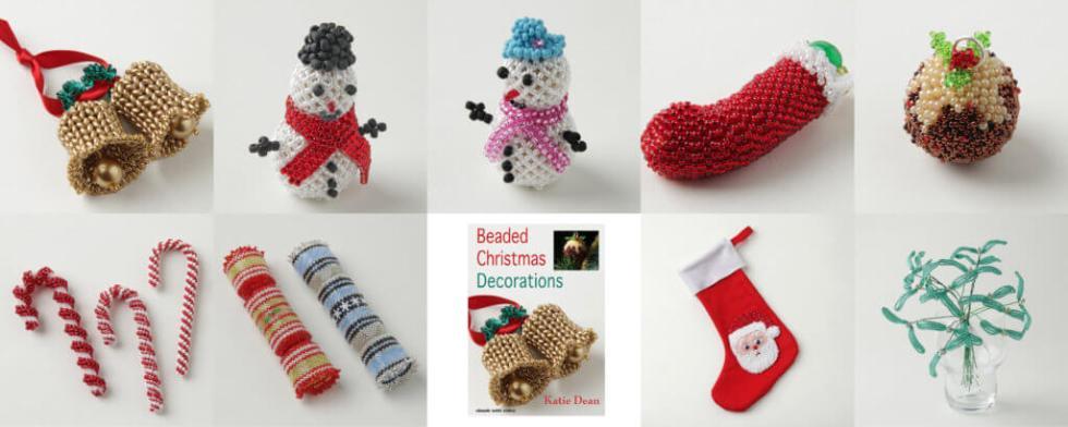 Beaded Christmas Decorations Ebook, Katie Dean, Beadflowers