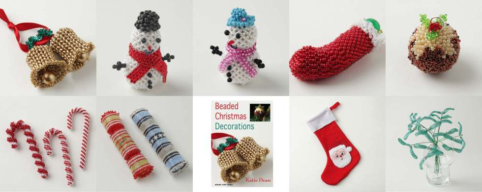 Beaded Christmas Decorations Ebook, Katie Dean, Beadflowers