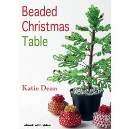 beaded christmas table