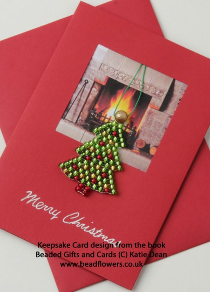 Beaded Christmas Cards, Christmas Gifts and Cards Ebook, Katie Dean, Beadflowers