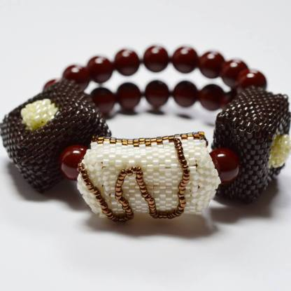 chocolate beaded beads