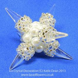 Ice Crystal Decoration Pattern, Katie Dean, Beadflowers