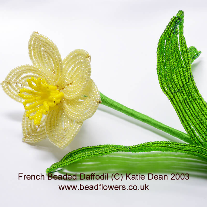 French beaded daffodil pattern