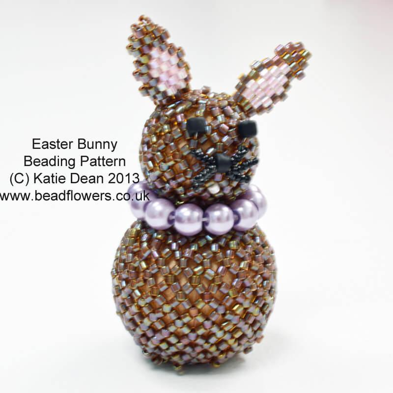 Easter Bunny Pattern, Easter bunny beading kit, Katie Dean, Beadflowers