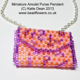 Miniature Amulet Purse Pendant