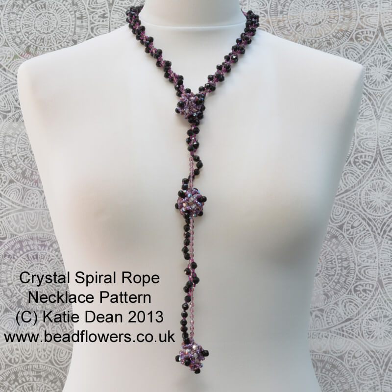 Crystal Spiral Rope Necklace Pattern