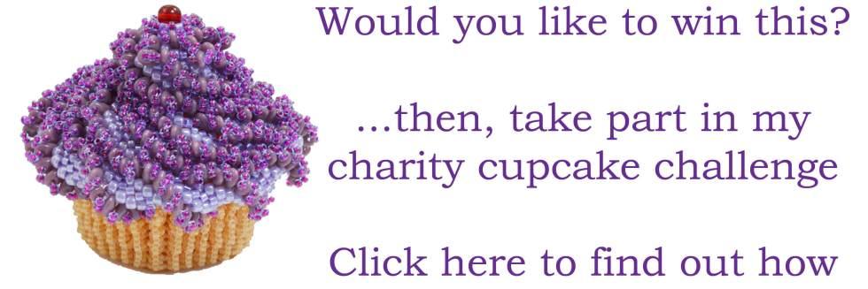 Beadflowers, Beadwork by Katie Dean, Charity Cupcake Challenge