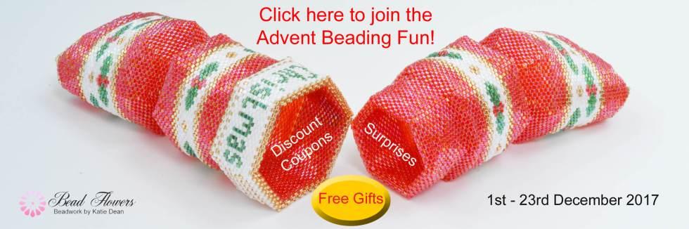 Bead Flowers, Beadwork by Katie Dean, Advent Beading Fun
