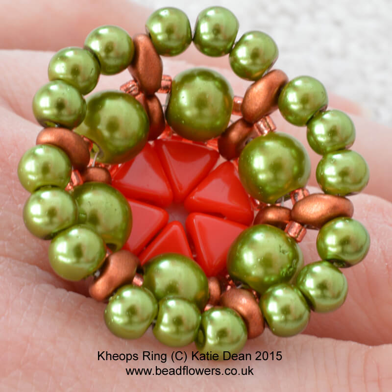 Kheops par puca ring pattern, Katie Dean, Beadflowers