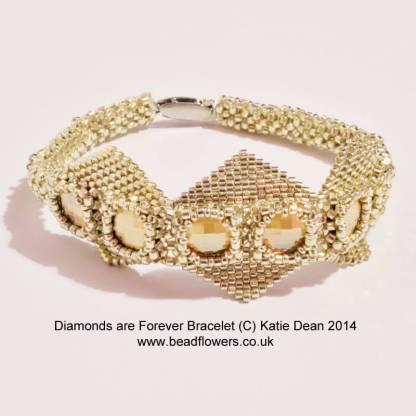 Diamonds are forever bracelet pattern, Katie Dean, Beadflowers