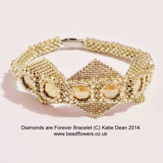 Diamonds are forever bracelet pattern, Katie Dean, Beadflowers