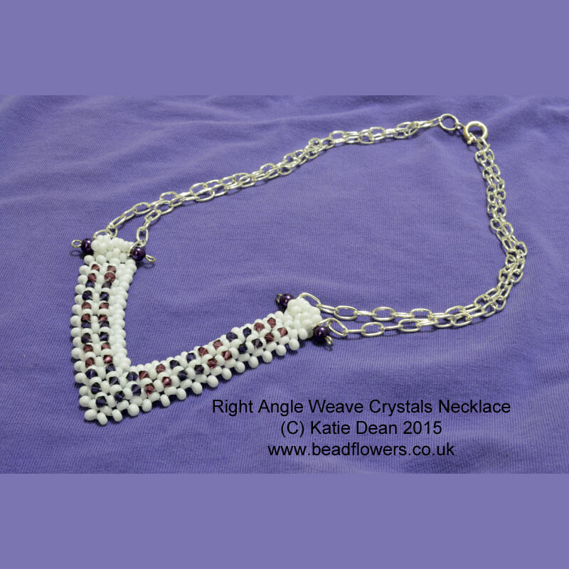 Beading patterns for RAW Crystals necklace, Katie Dean, Beadflowers