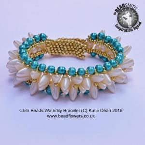 Chilli Beads Bracelet, waterlily Design, Katie Dean, Beadflowers