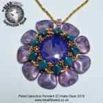 Floral Petal cabochon beaded pendant pattern