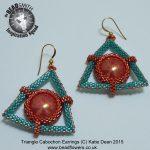 Beaded Earrings: Triangles