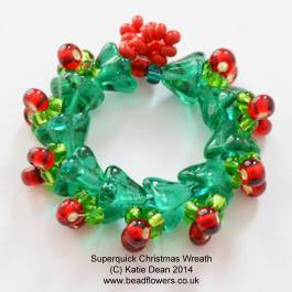 Beaded Christmas Wreath pattern, Twelve Months of Christmas