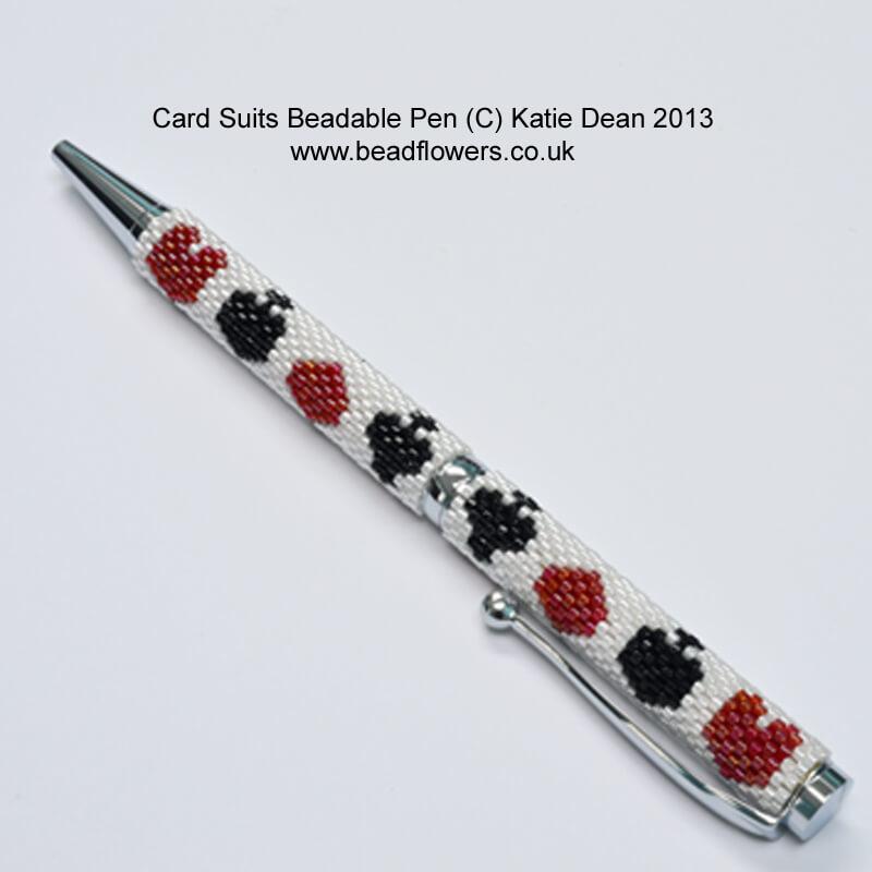 Bead Pen Pattern card games design, Katie Dean, Beadflowers