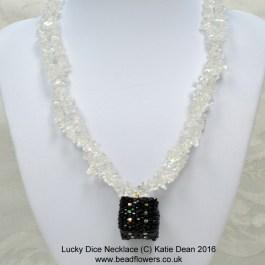 Lucky dice beaded necklace, Katie Dean, Beadflowers