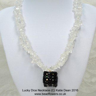 Lucky dice beaded necklace, Katie Dean, Beadflowers