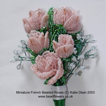 free tutorial: french beaded rose