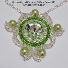 Rococo Crystal Pendant Pattern, Katie Dean, Beadflowers