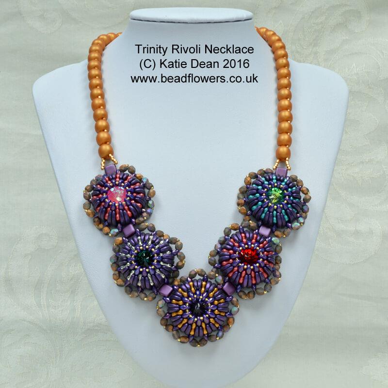 Trinity beads and rivoli necklace