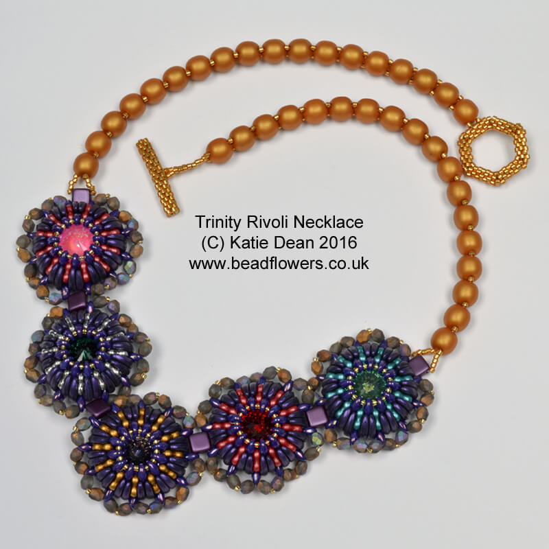 Trinity Beads and Rivoli Necklace
