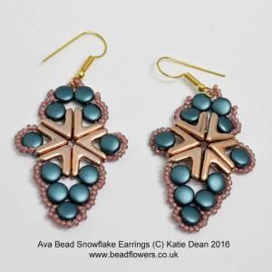 Ava Beads Snowflake Earrings