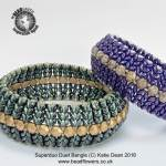 New Bead Designs, Great beading designs, Superduo Duet Bangle Pattern, bead and jewellery magazine, Katie Dean, beadflowers