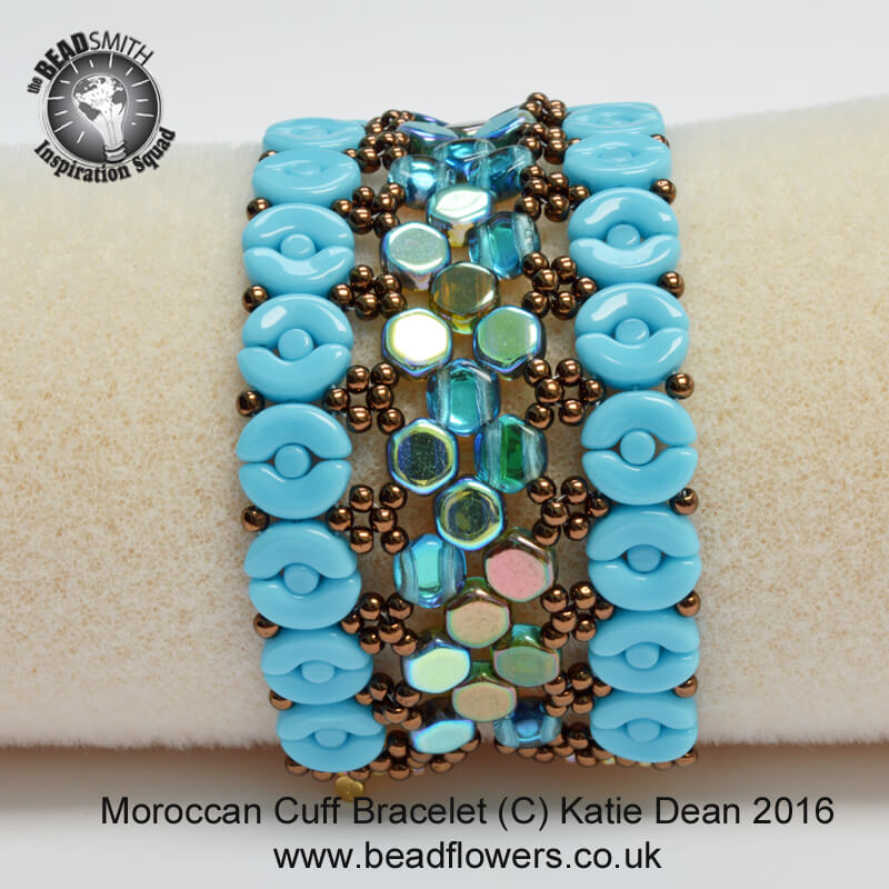 Beading Trends 2017: Moroccan Beaded Cuff Bracelet
