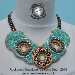 Bead embroidery: rockpools necklace design, Katie Dean, Beadflowers
